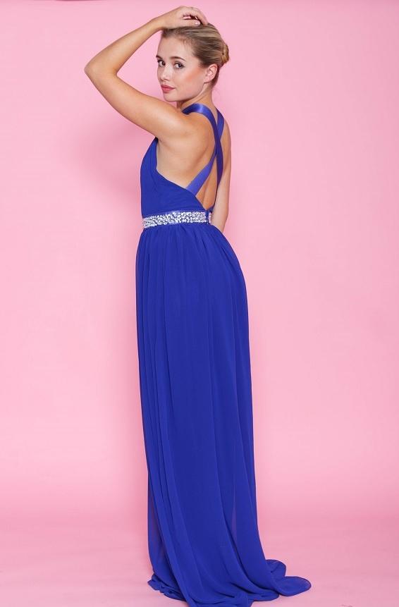 ... modré Dlouhé společenské šaty Půvab c239052dee
