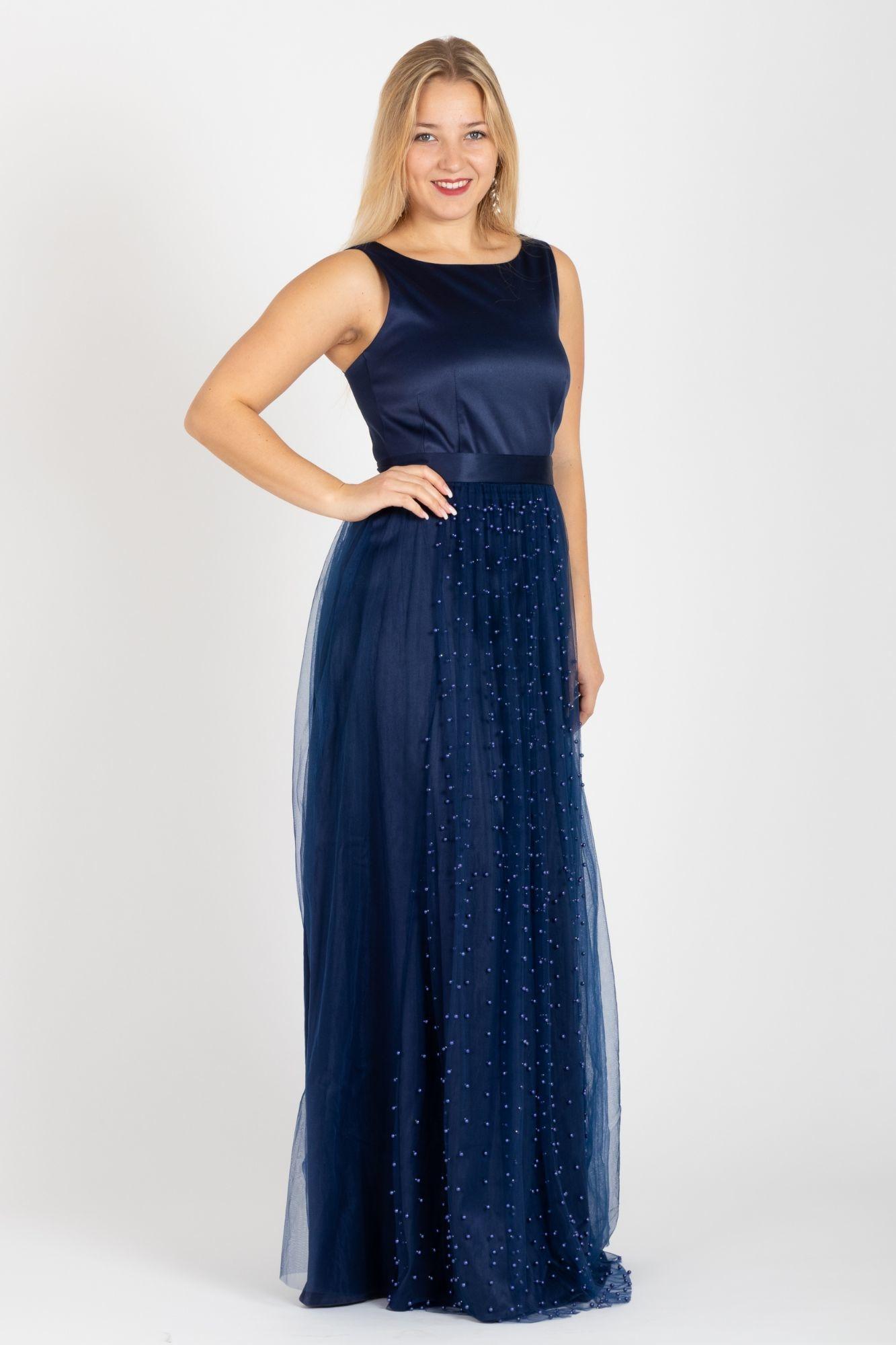 f3564dd47 Společenské šaty Elizabeth, modré - POSHme.cz