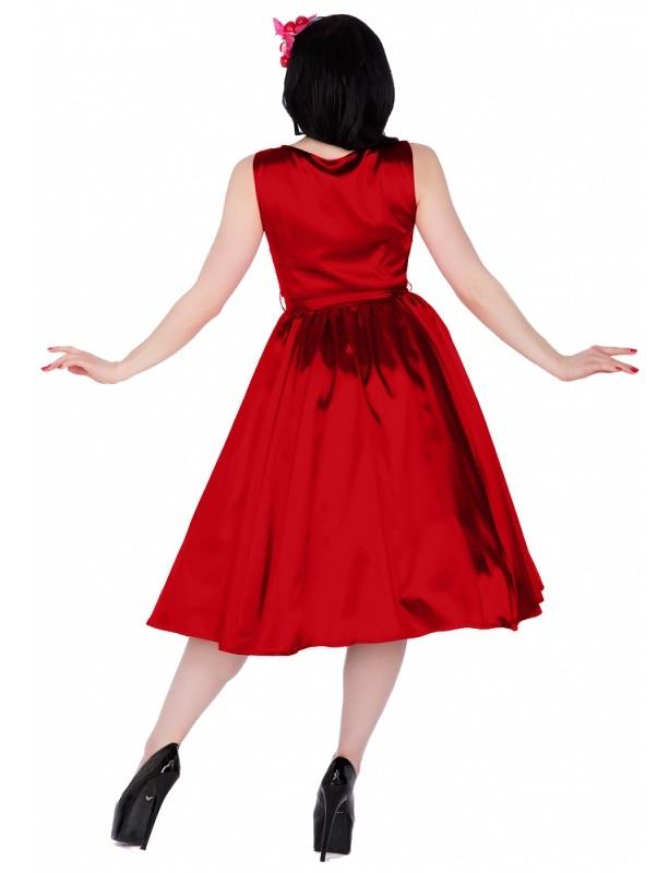 aeb6131b797 ... rudé Dolly and Dotty saténové šaty Hyacinth