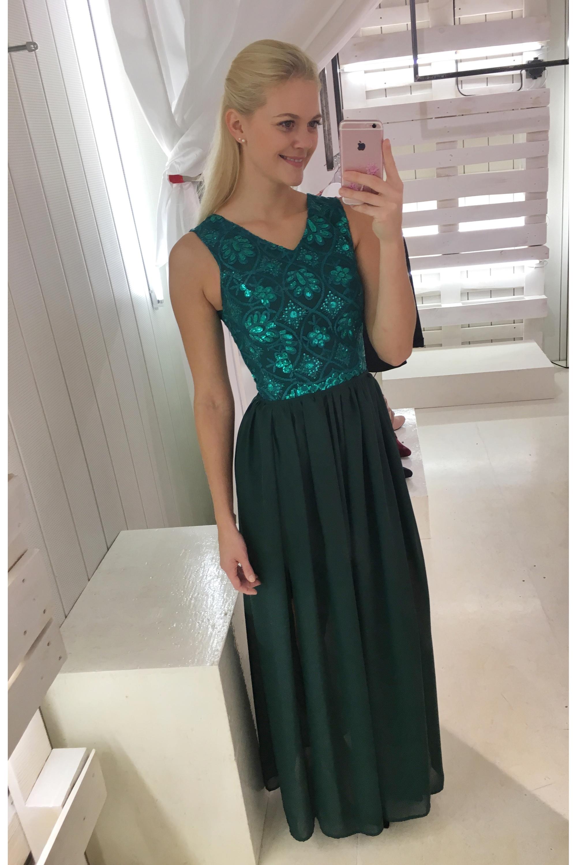 8a5cc69fad03 ... zelené Společenské šaty Smaragdové oko