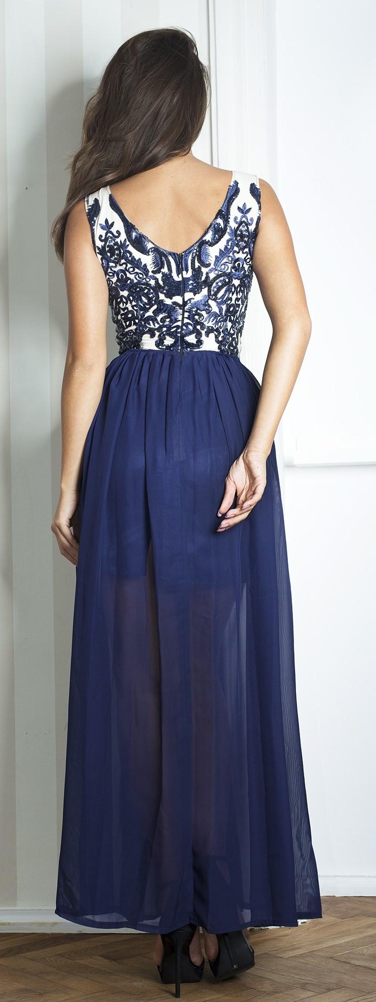 ... modré Plesové šaty Lexa e17e680af3c