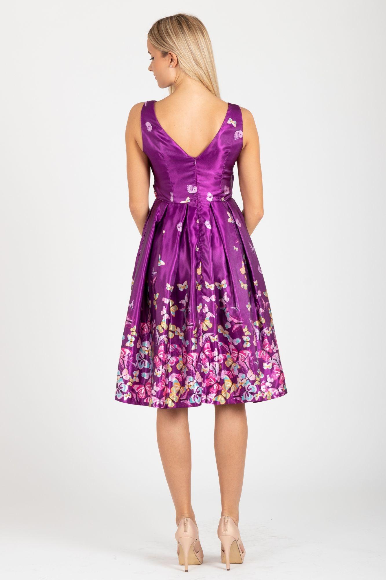 96011e1f2ec2 ... fialové LindyBop společenské šaty Aurora