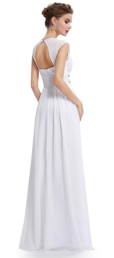 5d35e90f9fb6 ... bílé Ever-Pretty plesové šaty Antická bohyně