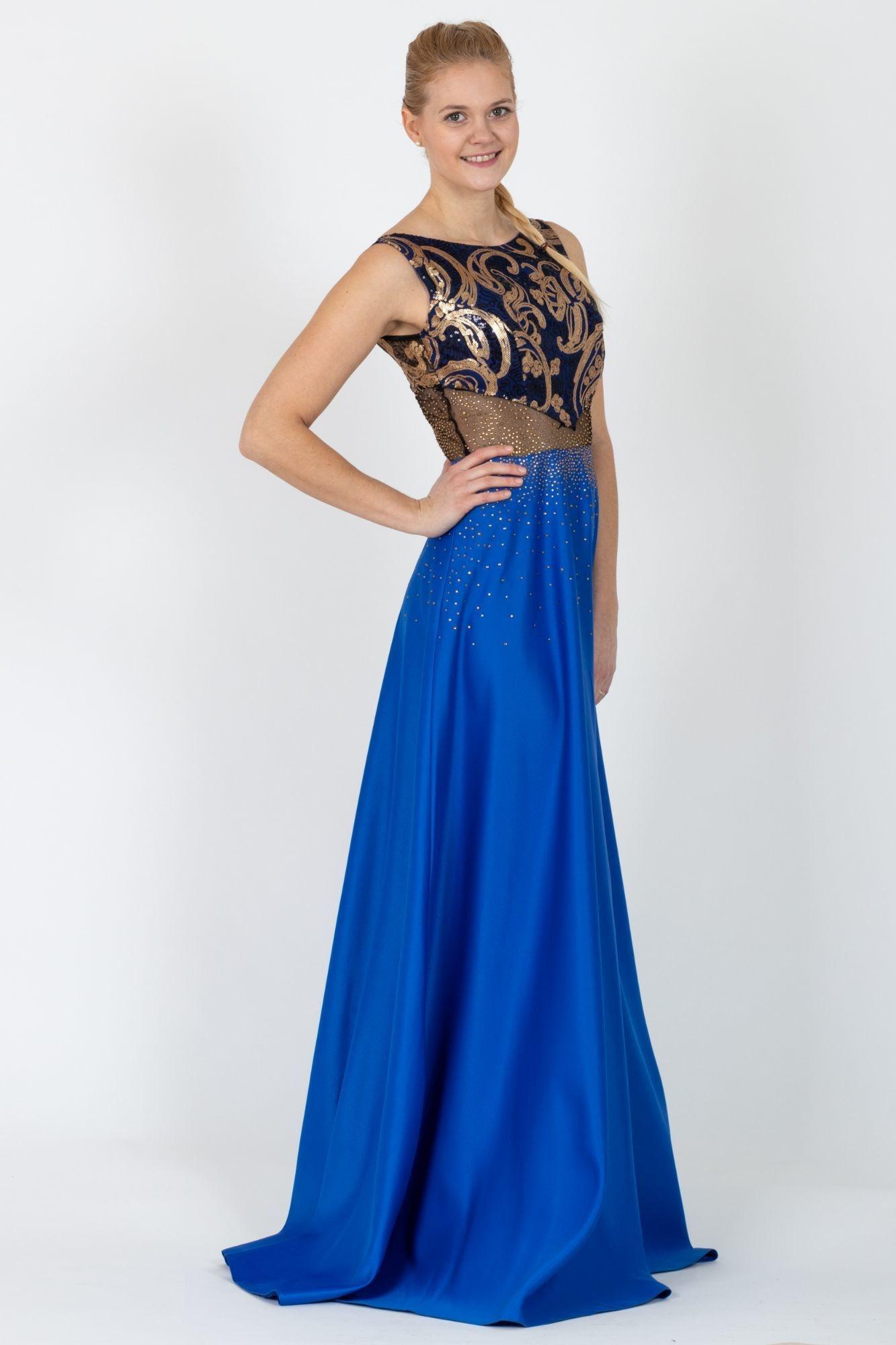 af377fee44a ... modré Plesové šaty Magica