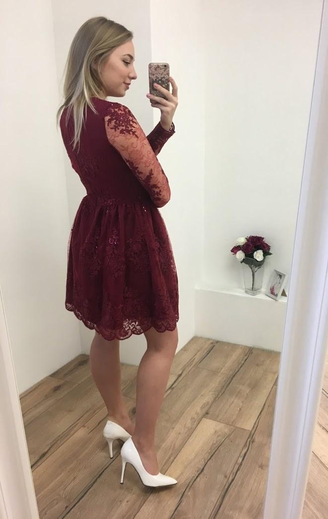 6f66f9ea918 ... vínové Společenské šaty Pásithea