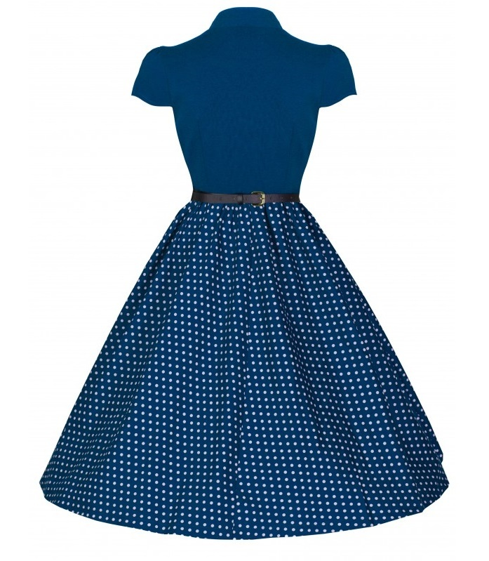 670ad583d592 ... modré LindyBop retro šaty Megan