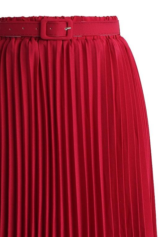 84977c1e27f3 ... červená Chicwish skládaná maxi sukně Rubín
