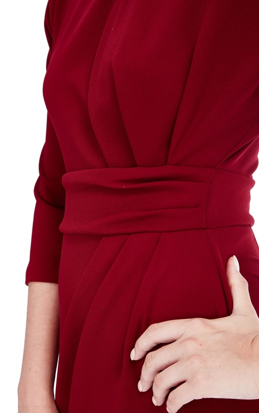 ... vínové Pouzdrové šaty Vize 703719e2db