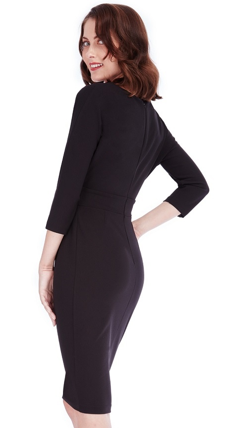 ... černé Pouzdrové šaty Vize 1d4de9ffb8