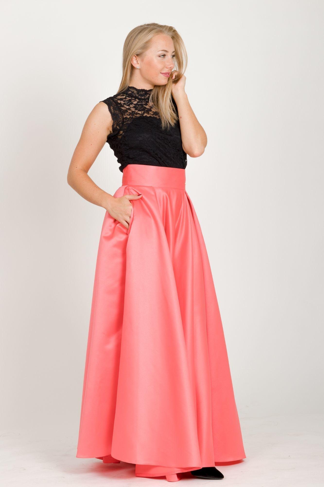 aea2a2a90846 ... korálová Maxi sukně Sissi