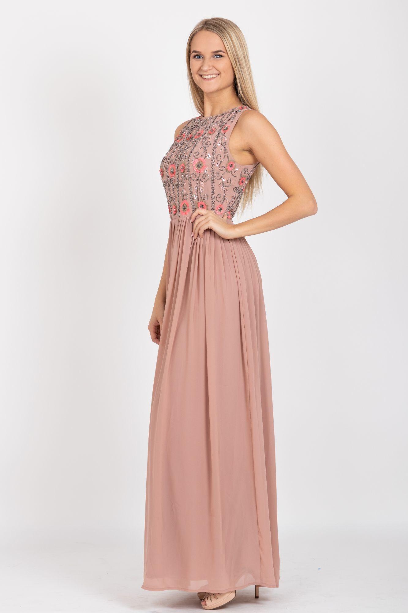 ... béžové Společenské šaty Laňka fa0c174216