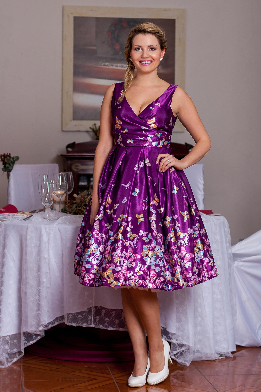 ... fialové LindyBop společenské šaty Aurora 0533edbc17f