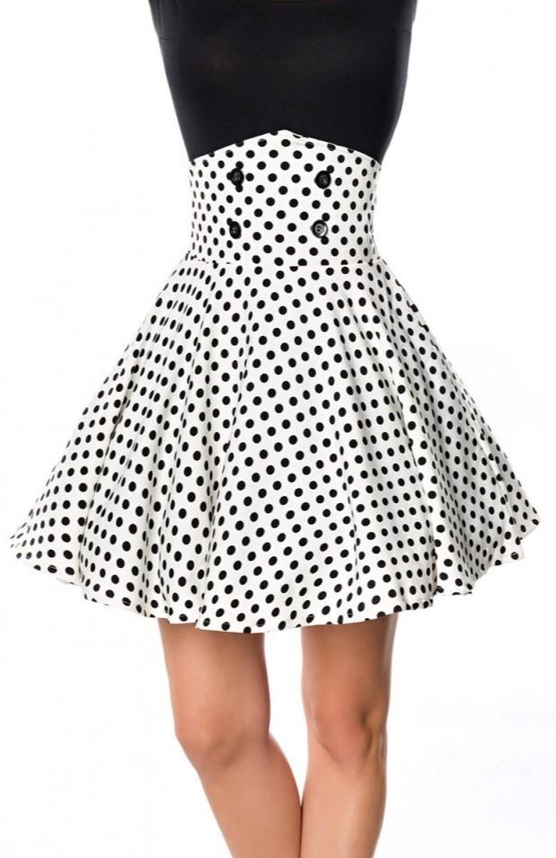 2128a565352 ... Krátká pasová retro sukně Andrea