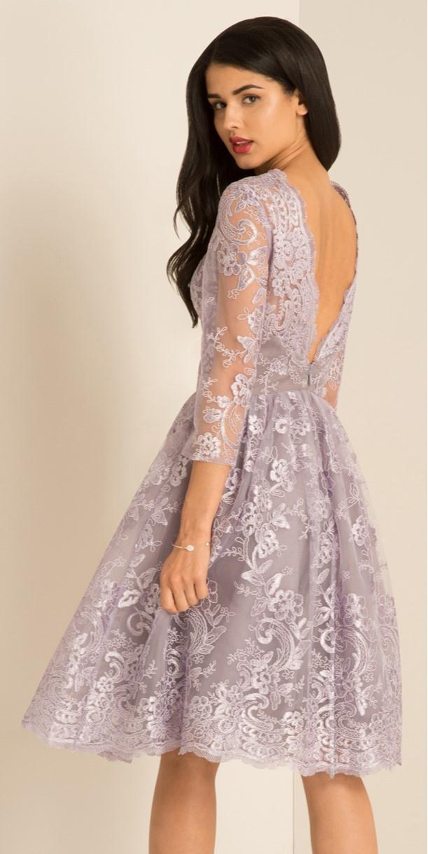 eef6766605f1 ... fialové Chi Chi London společenské šaty Elisa