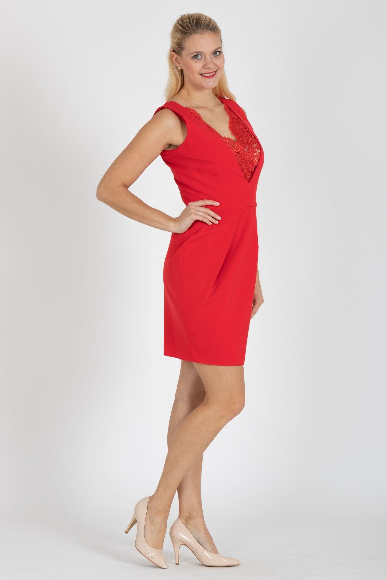 837380e6e2dc ... červené Pouzdrové šaty Impact