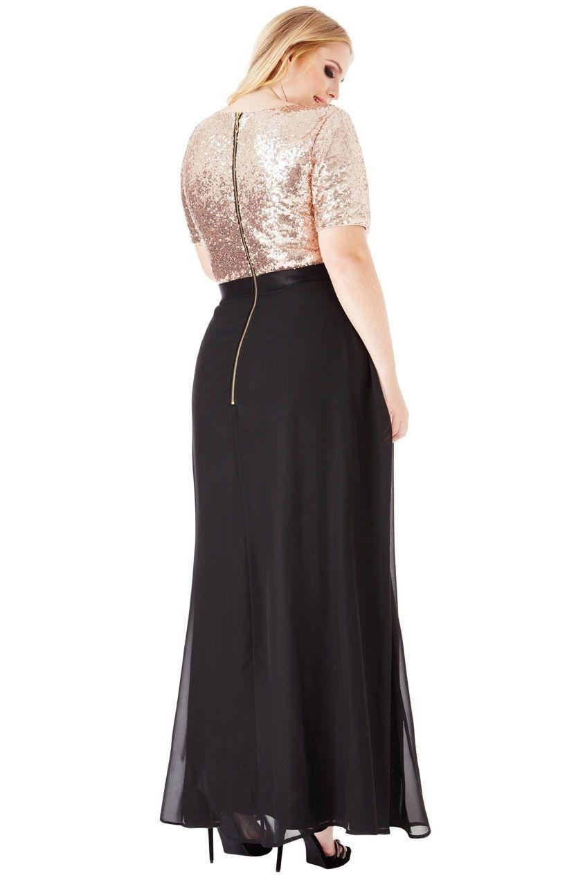 ... černé Plus size šaty Priscilla 018dfe788d