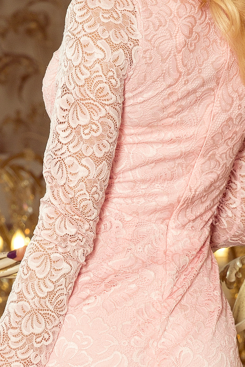 c0b86540d18 ... růžové Krajkové pouzdrové šaty Peggy