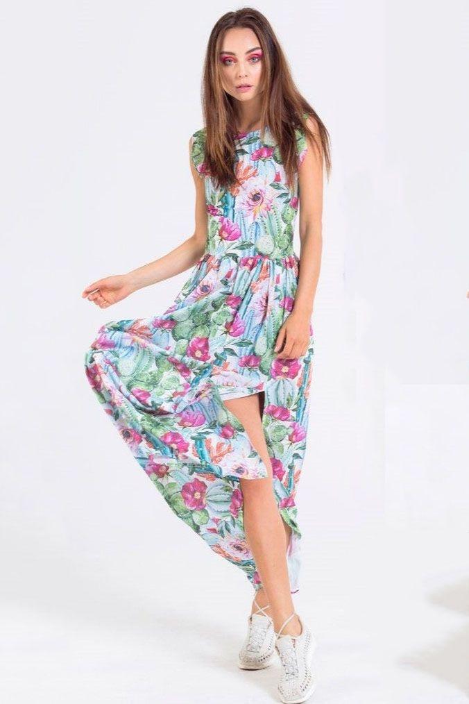 67d098e66ce7 ... zelené Maxi šaty Cactus Bloom