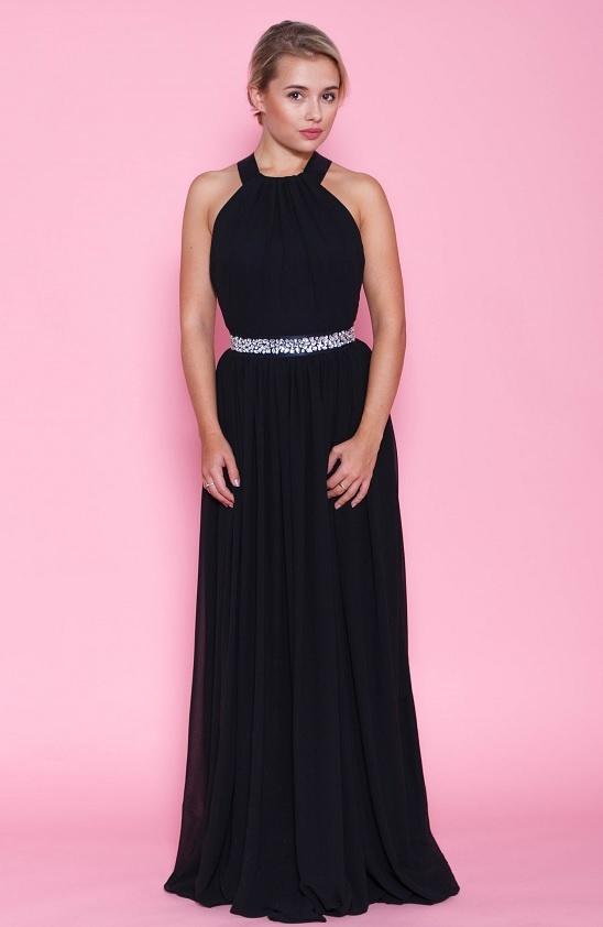 ... černé Dlouhé společenské šaty Půvab c8e7024be0