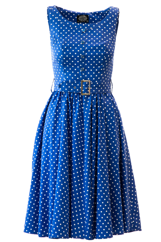 16c62d1a42e Retro šaty s puntíky Trixy