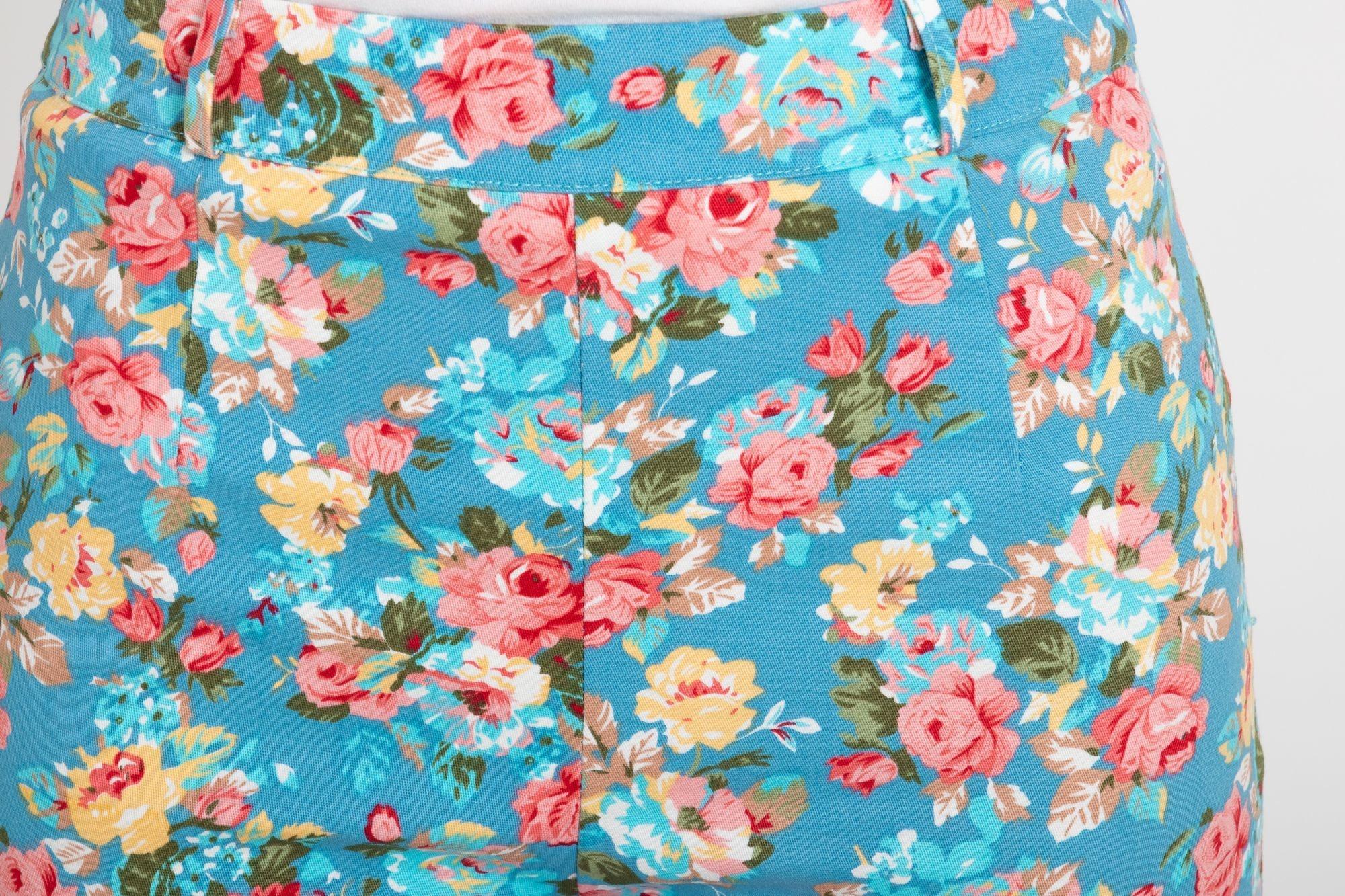 ... modré LindyBop tříčtvrteční kalhoty Kendra 71dd5f9452