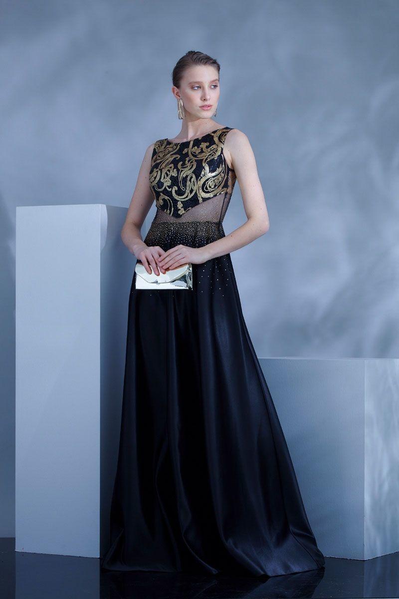 bfb59c7c42e ... černé Plesové šaty Magica