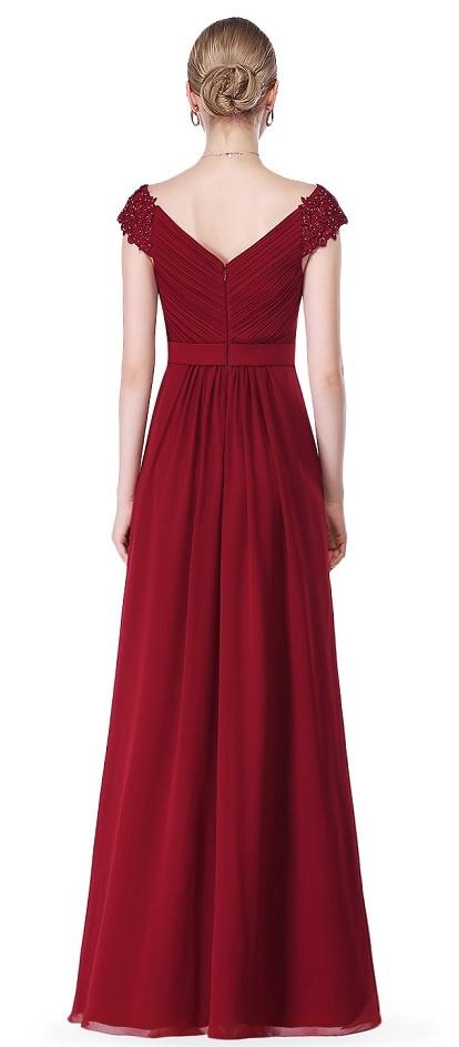 5acd24f4acc ... vínové Ever-Pretty plesové šaty Vášnivost