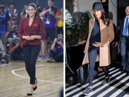 Nejlepší outfity těhotné Meghan Markle