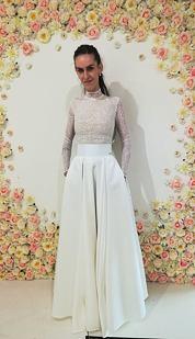 Maxi sukně Sissi, sněhově bílá