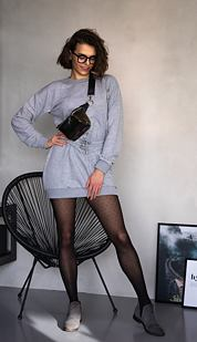 Mikinové šaty Maddison, šedé