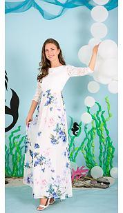 Společenské šaty Widoslava, smetanové