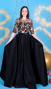 Exkluzivní V.I.P. plesové šaty Intuice, černé