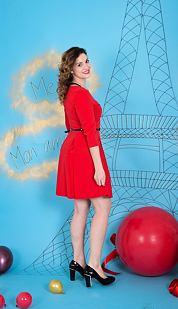 Šaty Zeta, červené