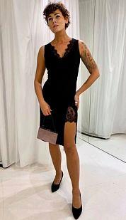 Pouzdrové šaty Chic Lady, černé