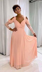 Plesové šaty Světokrása, meruňkové