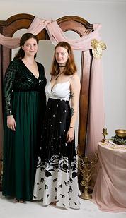 Plesové šaty Zpěvanka, bílý top