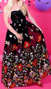 Společenské šaty Klenot noci, černé