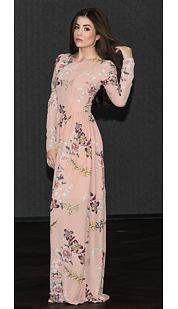 Maxi šaty Betisa, béžové