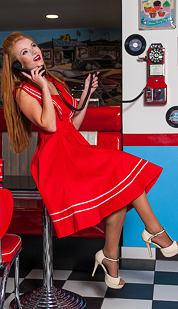 Šaty Regina, červené