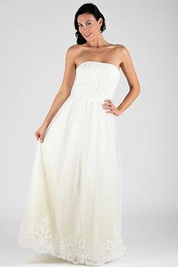 Chi Chi London exkluzivní svatební šaty Mollie, smetanové