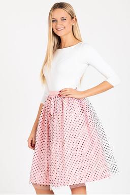 Tylová TUTU sukně Romantická láska, růžová