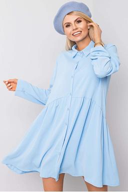 Tunikové šaty Leonie, světle modré