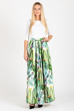 Maxi sukně Cactusio, zelená