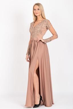 0edc003bb Společenské šaty Arianrhod, světle hnědé