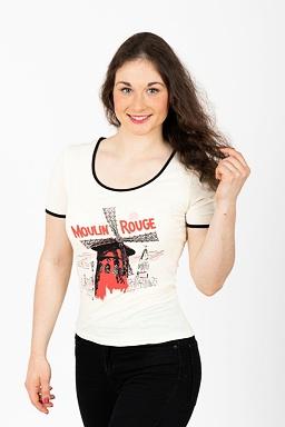 Tričko Moulin Rouge, krémové
