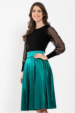 Midi sukně Missi, tmavě zelená