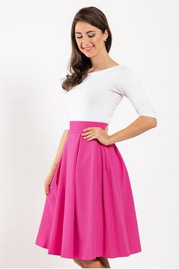 Midi sukně Baronka, fuchsiová