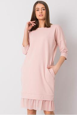 Mikinové šaty Lilly, růžové