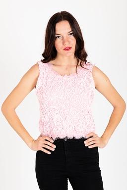 Krajkový top Loris, růžový