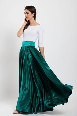 Maxi sukně Sissi, tmavě zelená